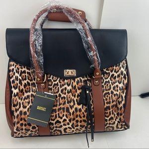 Badgley Mischka | Vegan Leather Leopard Tote Bag